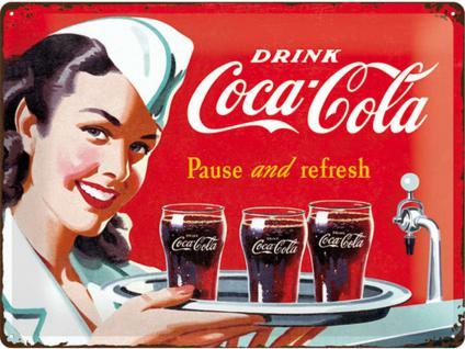 Coca-Cola - Waitress Blechschild, 40 x 30 cm