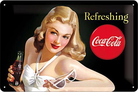 Coca-Cola - Refreshing Lady Blechschild - Vorschau