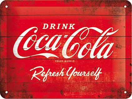 Coca-Cola - Logo red, refresh yourself Blechschild