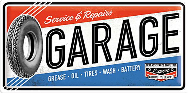 Garage - Service & Repairs Blechschild