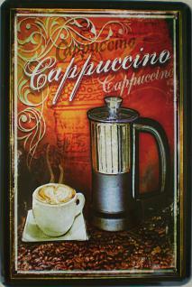 Cappuccino Blechschild