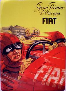 Fiat - Grand Premio D' Europa Blechschild - Vorschau
