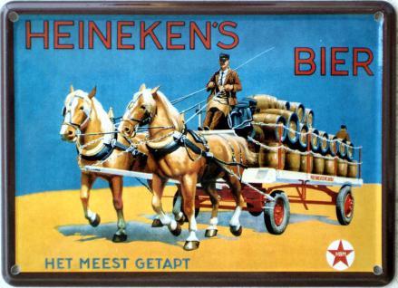 Heineken's Bier Mini Blechschild - Vorschau