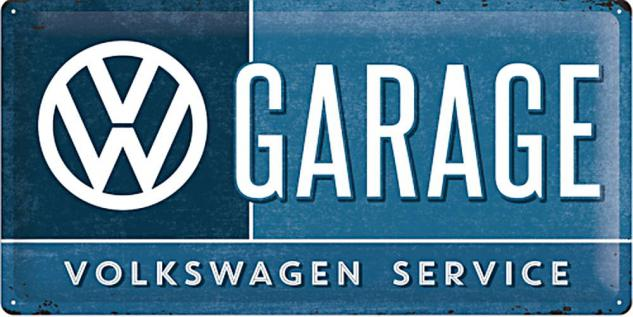 VW - Garage Blechschild - Vorschau