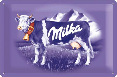 Milka - Kuh Blechschild - Vorschau