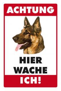 Hier wache ich - Deutscher Schäferhund Blechschild