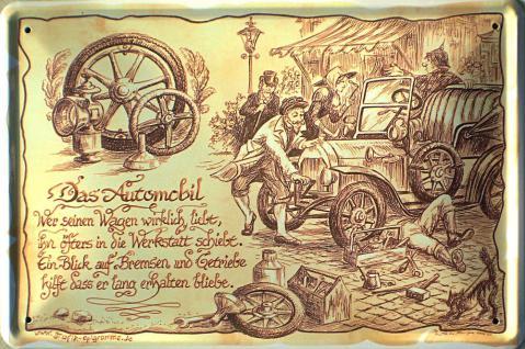 Beruf - Automobil (Zunft) Blechschild