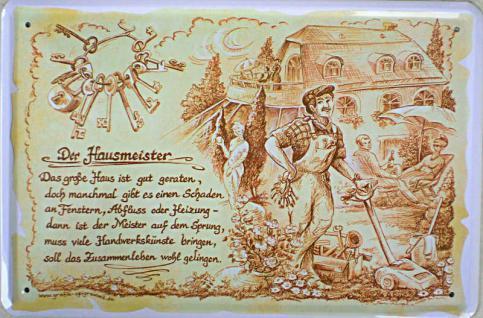 Beruf - Hausmeister Blechschild - Vorschau