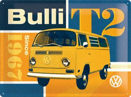 VW - Bulli T2 Blechschild, 40 x 30 cm - Vorschau