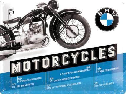BMW - Timeline Blechschild