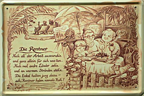 Beruf - Rentner Blechschild - Vorschau