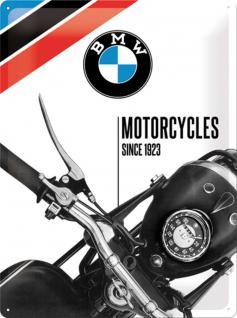 BMW - Motorcycles since 1923 Blechschild, 30 x 40 cm - Vorschau