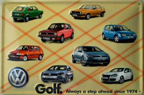 VW - Golf Blechschild