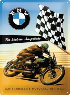 BMW - für höchste Ansprüche Blechschild, 30 x 40 cm