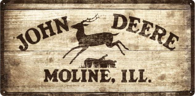 John Deere - Logo 1937 Blechschild