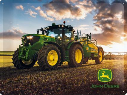 John Deere - Modell 6150 R Blechschild, 40 x 30 cm