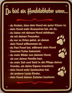 Fun-Schild Du bist ein Hundeliebhaber - Vorschau