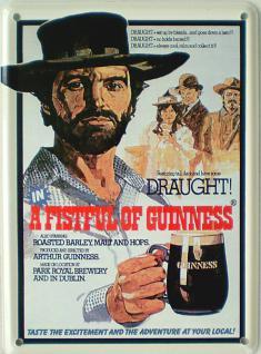Guinness - A fistful Mini-Blechschild