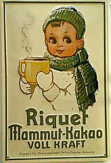 Riquet Mammut-Kakao Blechschild