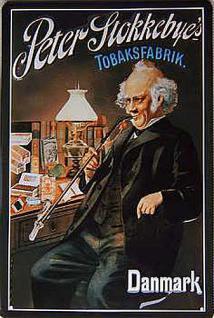 Peter Stokkebye's Tobaksfabrik Blechschild
