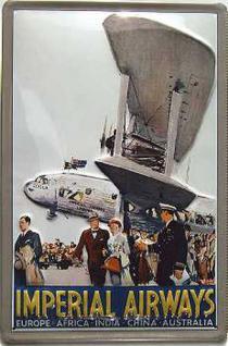 Imperial Airways Blechschild - Vorschau