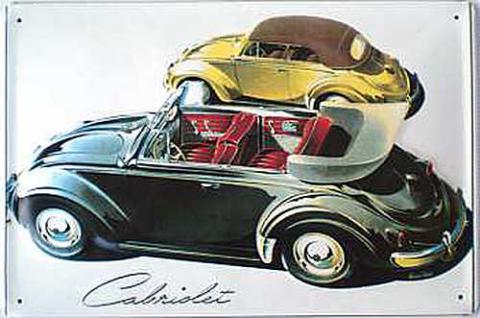 VW Cabrios Blechschild