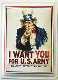 I Want You...For US Army Blechschild