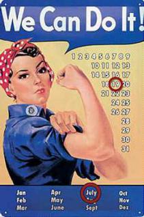We Can Do It Kalender Blechschild