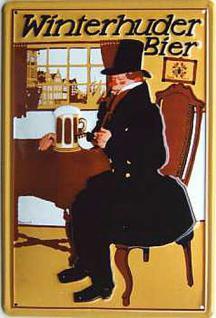 Winterhuder Bier Blechschild