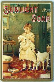 Sunlight Soap (Hunde) Blechschild - Vorschau