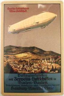 Zeppelin Luftschiff Blechschild - Vorschau
