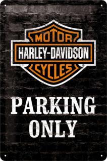 Harley-Davidson - Parking Only Blechschild - Vorschau