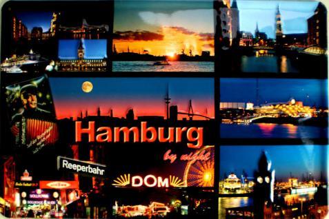 Hamburg - Collage Blechschild