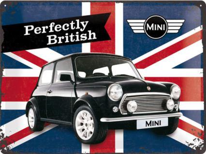 Mini Cooper - Perfectly British Blechschild