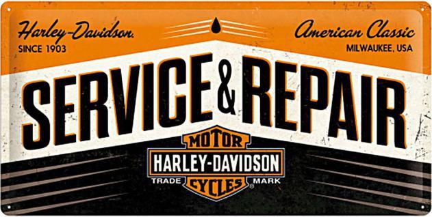 Harley-Davidson - Service and Repair Blechschild