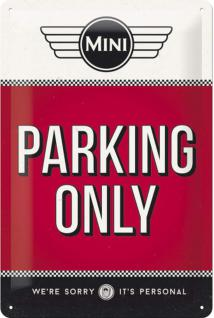 Mini Cooper - Parking Only Blechschild