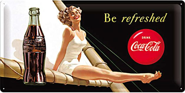 Coca-Cola - Be refreshed Lady Blechschild