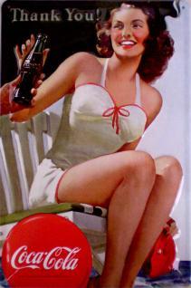 Coca Cola - Thank You Blechschild