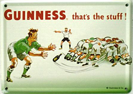Mini Blechschild Guinness - Rugby - Vorschau