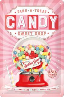Candy Blechschild - Vorschau