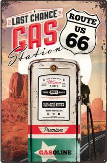 Route 66 - Gas Station Blechschild