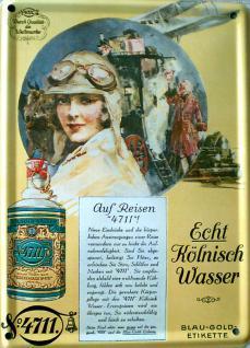 4711 Echt Kölnisch Wasser Mini Blechschild