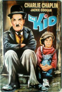 Charlie Chaplin the Kid Blechschild