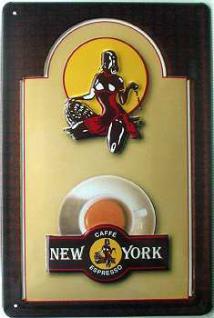 Cafe Espresso New York Blechschild