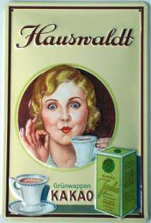 Hauswaldt Grünwappen Kakao Blechschild