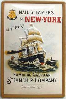 Hamburg-American Steamship-Company Blechschild - Vorschau