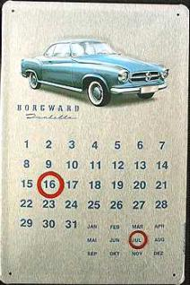 Borgward Isabella Kalender Blechschild