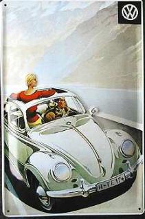VW Käfer Cabriolet Blechschild