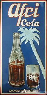 Afri Cola immer erfrischend Blechschild