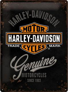 Harley-Davidson Genuine Logo Blechschild - Vorschau